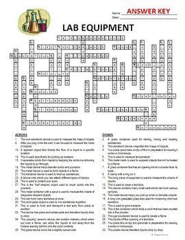 lab equipment crossword editable by tangstar science tpt