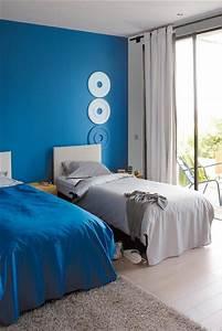 etat pur douceur de vivre chambre bleue zolpan With couleur chaude pour une chambre
