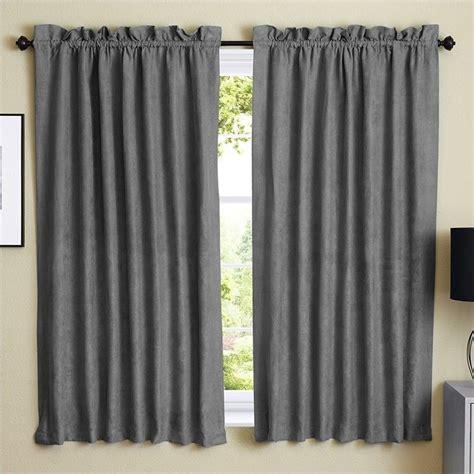 blazing needles 63 inch blackout curtain panels in steel