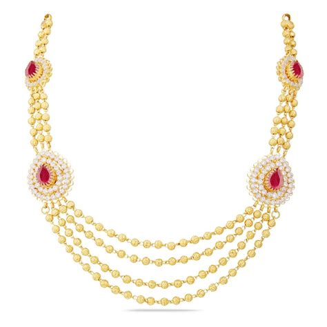 gold necklace design   grams  price necklace