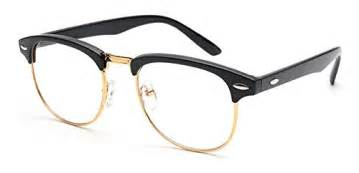designer glasses outray vintage retro classic half frame horn rimmed clear lens glasses pelican gifts