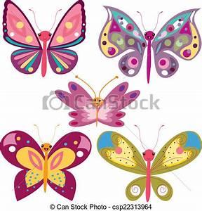 Kawaii, mariposas Ilustrador, eps, archivo vector clip art Buscar dibujos e imágenes gráficas