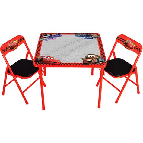 disney cars erasable activity kid s table and chairs set