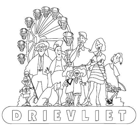 Kleurplaat Drievliet by Pretpark Kinder Kleurplaten Drievliet