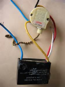ceiling fan change capacitor for single speed
