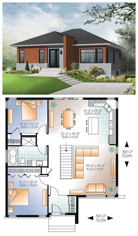 Modern House Layout by 10 Awesomely Simple Modern House Plans Plans Haus