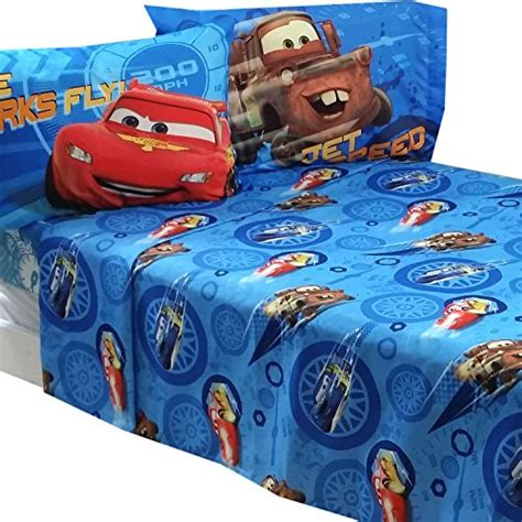 4pc disney cars full bed sheet set lightning mcqueen city
