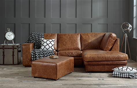 abbey leather chaise english sofa
