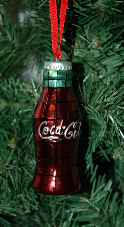 coca cola coke blown glass bottle christmas ornament ebay