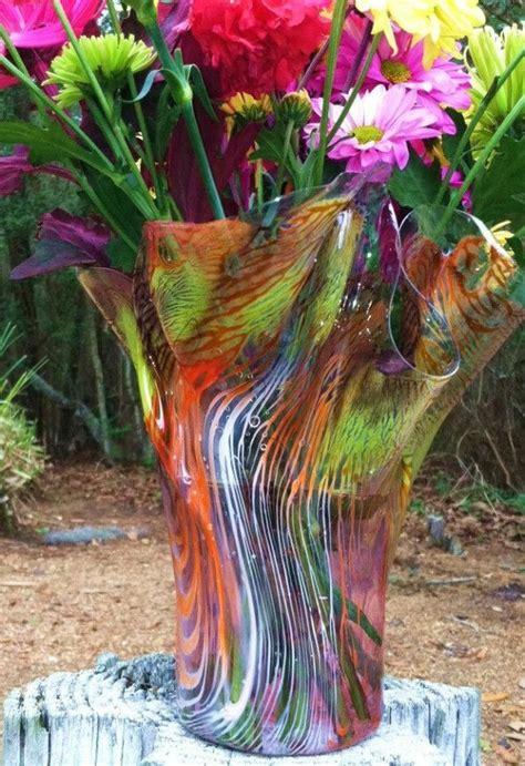 custom  multi colored vases