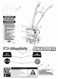 Snapper Mc43e  1695764  43cc 2 Cycle Mini Cultivator Parts Diagram For Decals Group