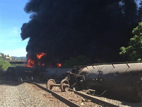 Oil Train Derails, Burns In Columbia River Gorge