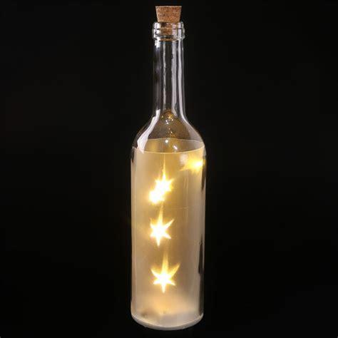 led lights for bottles glass wine bottle led lights 29cm high effect battery
