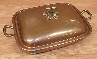 ruffoni    hammered copper serving pan  acorn lid italy read