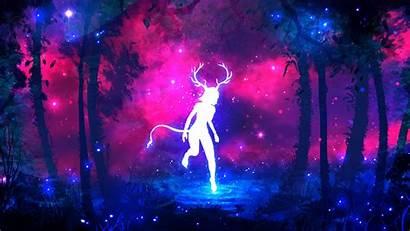 Neon Purple Backgrounds Colors Horns Forest Jungle