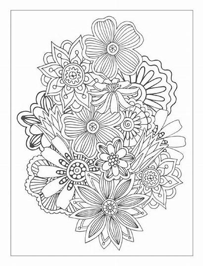 Coloring Pages Flowers Flower Detailed Colouring Designs