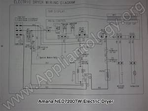 Amana Ned7200tw  Samsung Built  Electric Dryer Wiring Diagram