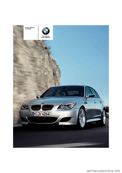Bmw M5 Sedan 2008 E60 Owner's Manual