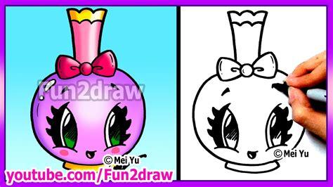 draw easy cartoons perfume bottle tutorial cute