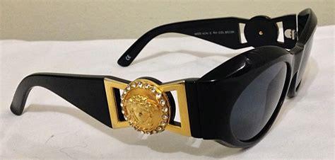 Vintage Gianni Versace Medusa Sunglasses Biggie Belt Black