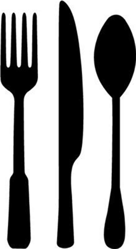 kitchen utensils silhouette  getdrawings