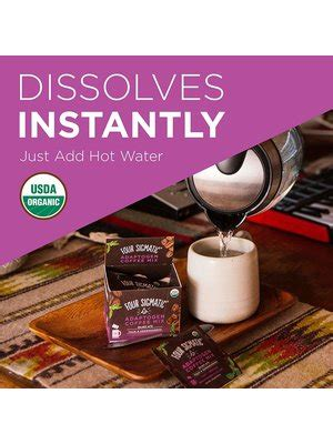 Find many great new & used options and get the best deals for four sigmatic adaptogen coffee with tulsi & aswagandha 10sach at the best online prices at ebay! Four Sigmatic Mushroom Coffee, Adaptogens, 10ct Instant - Nuts 'n Berries Healthy Market