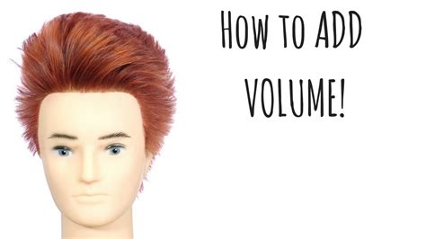 How Add Volume Hair Styling Tips Thesalonguy Youtube