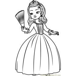 princess sofia coloring page  kids  sofia