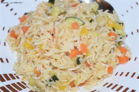 cuisiner le riz basmati riz basmati aux légumes maman ça déborde