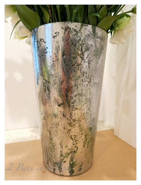 Diy Mercury Glass Vases - diy mercury glass vases 2 bees in a pod