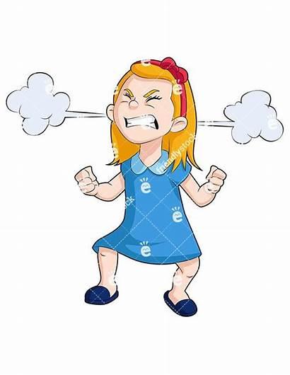 Angry Clipart Cartoon Face Vector Steam Mad