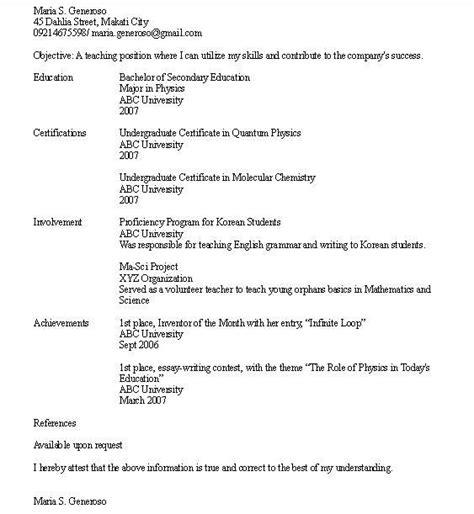 high school graduate resume exles how write resume for