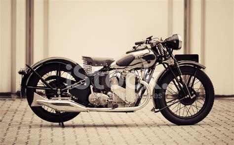 Vintage British Motorcycle Stock Photos