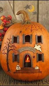 Halloween Kürbis Bemalen : spooky pumpkin house halloween ideas ~ Eleganceandgraceweddings.com Haus und Dekorationen