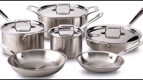 clad cookware stainless steel d5 bonded brushed ply