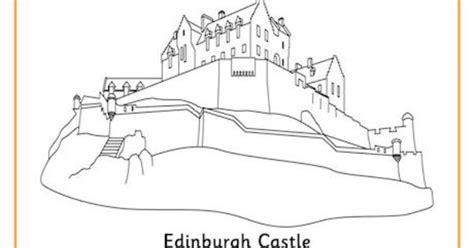 Edinburgh Castle Colouring Page