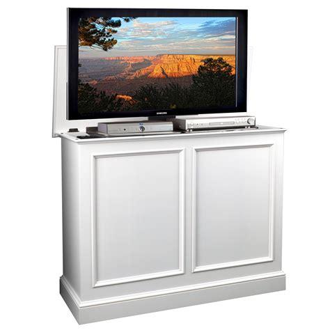 tv cabinet hidden tv lift carousel white tv lift cabinet by tvliftcabinet com
