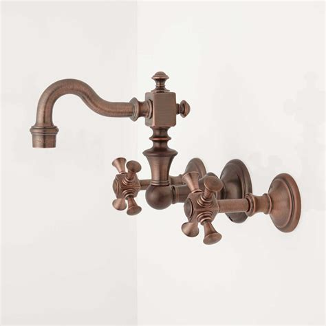 Vintage Wall Mount Faucet by Vintage Wall Mount Bathroom Faucet Cross Handles Wall