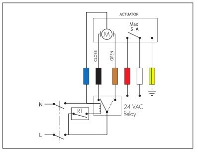 how do i wire a floating actuator caleffi