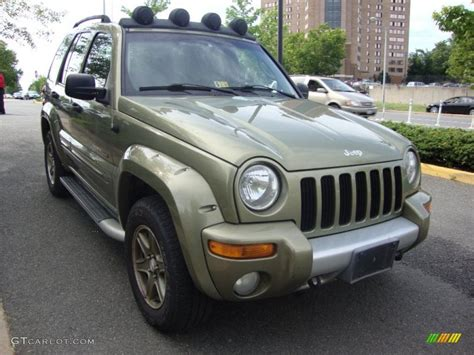 dark green jeep liberty 2002 cactus green metallic jeep liberty renegade 4x4