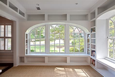 window bookcase offers extra book storage homesfeed