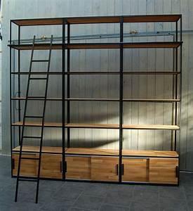 Bibliothèque Peu Profonde : bibliotheque industrielle ~ Premium-room.com Idées de Décoration