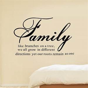 family like branches on a tree quote diretions art vinyl With wall sayings vinyl lettering