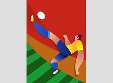 Brazil World Cup Soccer Player Vector Illustration