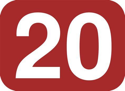 Twenty, 20, Number, Rectangle