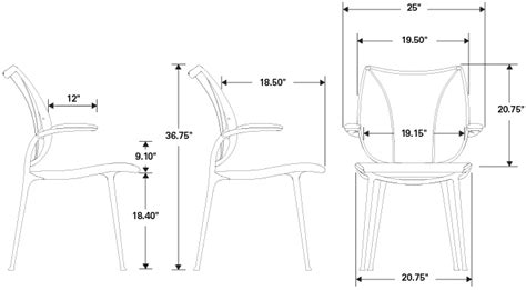 humanscale liberty chair specifications humanscale liberty side chair sti systems and technology