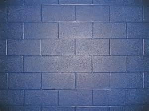 Blue Cinder Block Wall