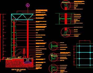 Detail Glass Anchorage DWG Detail for AutoCAD • Designs CAD