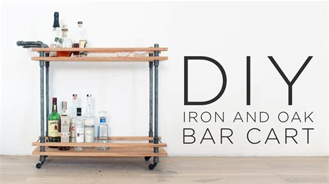 diy bar cart     drink cart  iron pipes