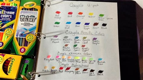 More Crayola Colored Pencil Swatches (metallic, Extreme